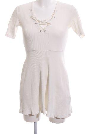 H&M Divided Shirtkleid wollweiß Streifenmuster Casual-Look