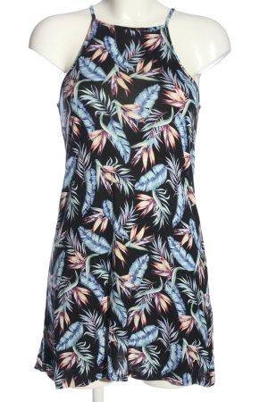 H&M Divided Shirttunika blau-pink Allover-Druck Casual-Look