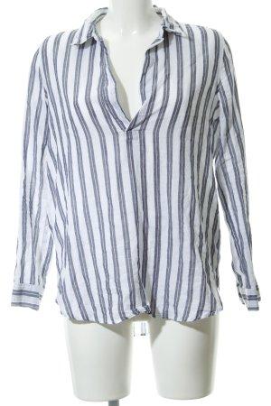 H&M Divided Shirttunika graublau Streifenmuster Casual-Look