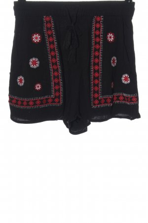 H&M Divided Shorts black graphic pattern casual look