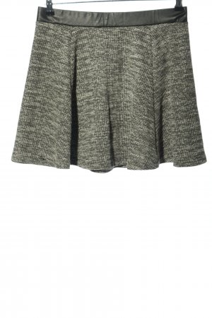 H&M Divided Falda de patinador gris claro-caqui moteado look casual