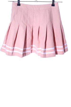 H&M Divided Falda de patinador rosa look casual