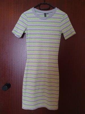 H&M Divided Mini Dress light grey-yellow