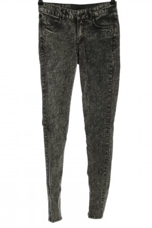 H&M Divided Skinny Jeans schwarz meliert Casual-Look