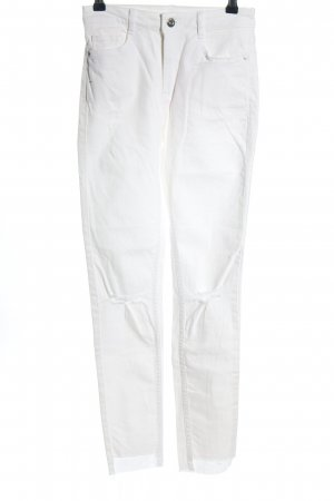 H&M Divided Skinny Jeans weiß Casual-Look