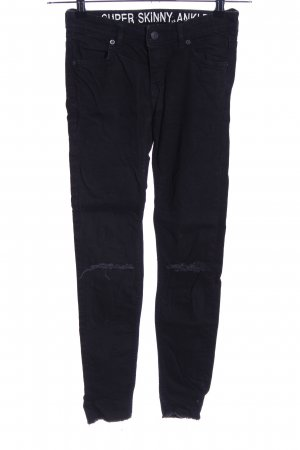H&M Divided Vaquero skinny negro look casual