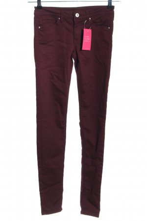 H&M Divided Skinny Jeans rot Casual-Look