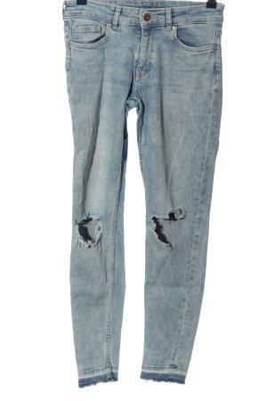 H&M Divided Skinny Jeans blau Street-Fashion-Look