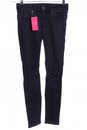 H&M Divided Slim Jeans schwarz Casual-Look