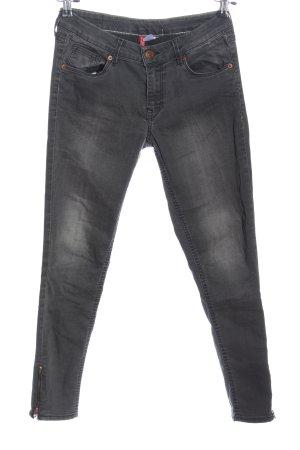 H&M Divided Slim Jeans hellgrau Casual-Look