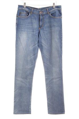 H&M Divided Slim Jeans blau Casual-Look