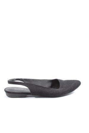 H&M Divided Slingback Ballerinas schwarz Casual-Look