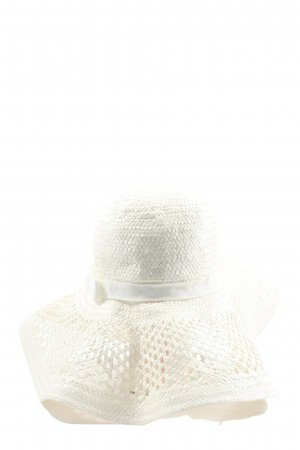 H&M Divided Sun Hat white weave pattern casual look