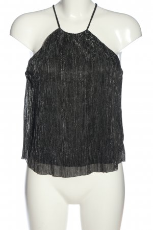 H&M Divided Spaghetti Strap Top black-silver-colored striped pattern casual look