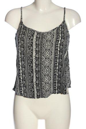 H&M Divided Top de tirantes finos negro-blanco look casual