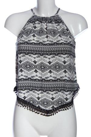 H&M Divided Top de tirantes finos blanco-negro look casual