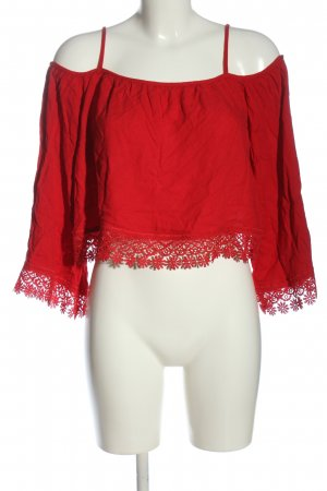 H&M Divided Slip-over Blouse red casual look