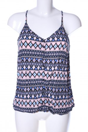 H&M Divided Spaghettibandtopje blauw-roze volledige print casual uitstraling