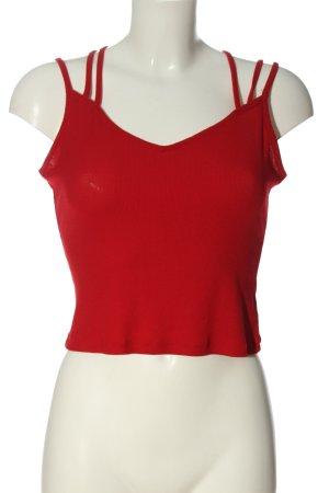 H&M Divided Top de tirantes finos rojo look casual