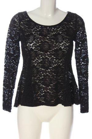 H&M Divided Lace Blouse black elegant