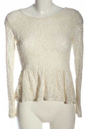 H&M Divided Lace Blouse natural white business style