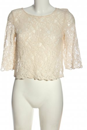 H&M Divided Spitzenbluse creme Casual-Look