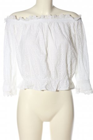 H&M Divided Kanten blouse wit casual uitstraling