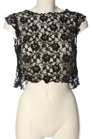 H&M Divided Kanten blouse zwart elegant