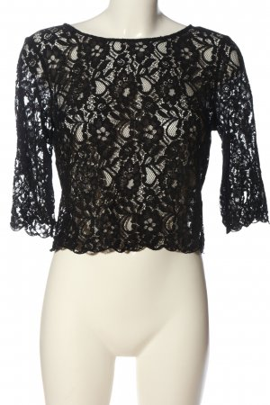 H&M Divided Spitzenbluse schwarz Casual-Look