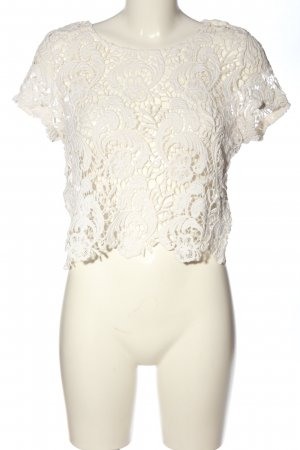 H&M Divided Blusa de encaje blanco elegante