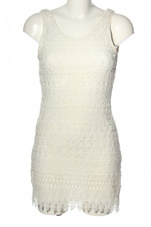 H&M Divided Abito in pizzo bianco stile casual