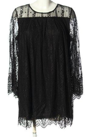 H&M Divided Robe en dentelle noir élégant