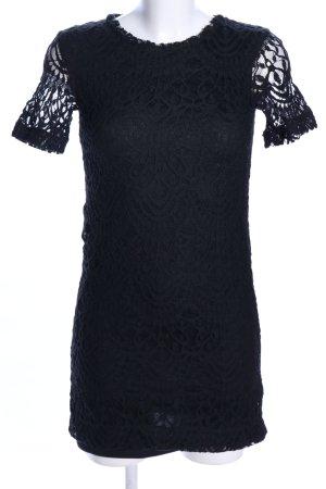 H&M Divided Spitzenkleid schwarz Blumenmuster Elegant
