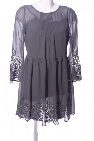 H&M Divided Lace Dress light grey elegant