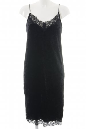 H&M Divided Spitzenkleid schwarz Business-Look
