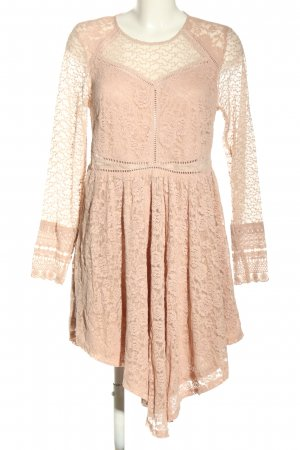 H&M Divided Lace Dress nude elegant