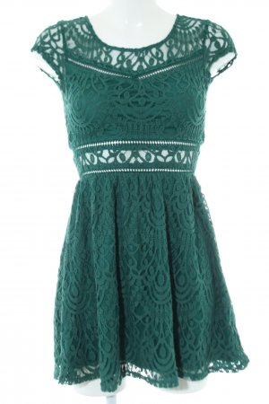 H&M Divided Robe en dentelle vert élégant