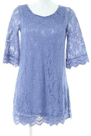 H&M Divided Spitzenkleid blau Elegant