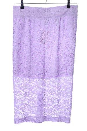 H&M Divided Falda de encaje lila estampado floral look casual
