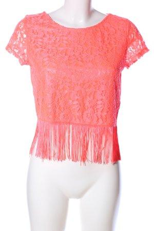 H&M Divided Top di merletto arancione chiaro stile casual