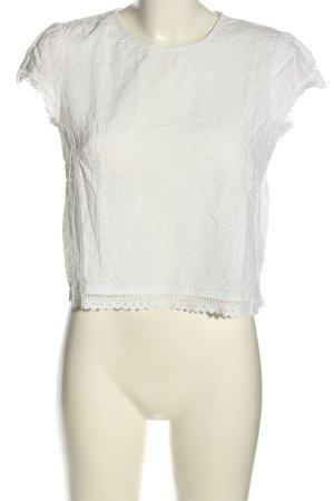 H&M Divided Koronkowy top biały W stylu casual