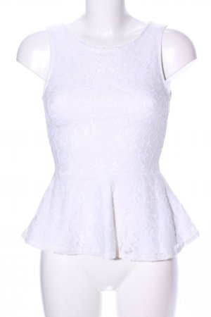 H&M Divided Lace Top white allover print business style