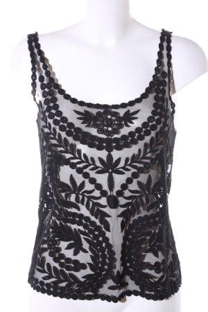 H&M Divided Lace Top black weave pattern elegant