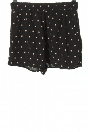 H&M Divided Sportshorts schwarz-creme Punktemuster Casual-Look