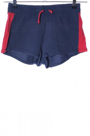 H&M Divided Sportshorts blau-rot Casual-Look