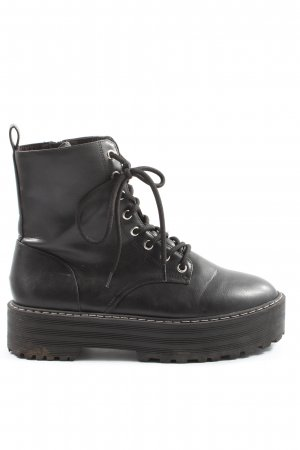 H&M Divided Combat Boots black casual look