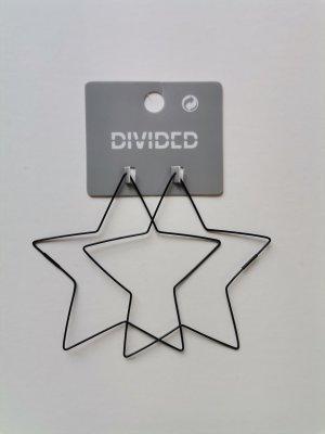 H&M Divided Statement Ohrringe Sterne schwarz