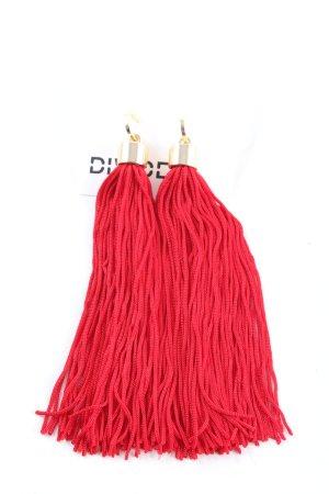 H&M Divided Boucle d'oreille incrustée de pierres rouge style décontracté