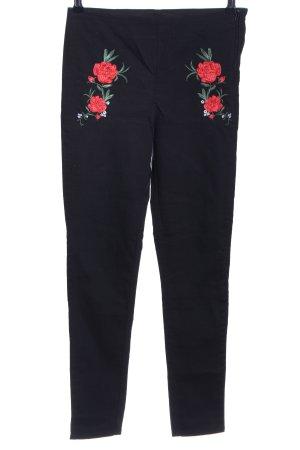 H&M Divided Pantalón con estribo estampado floral look casual