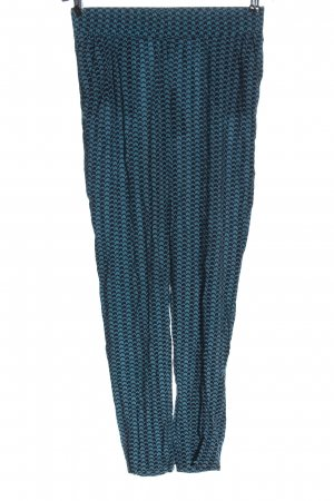 H&M Divided Jersey Pants blue allover print casual look